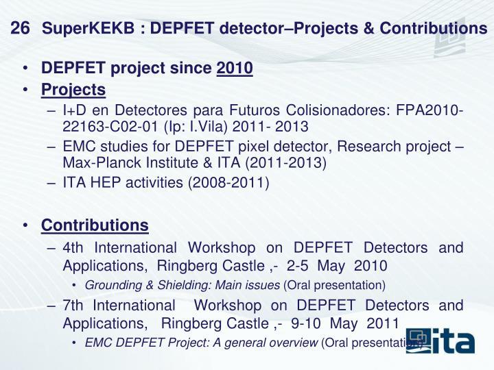 SuperKEKB : DEPFET detector–Projects & Contributions