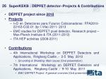 superkekb depfet detector projects contributions
