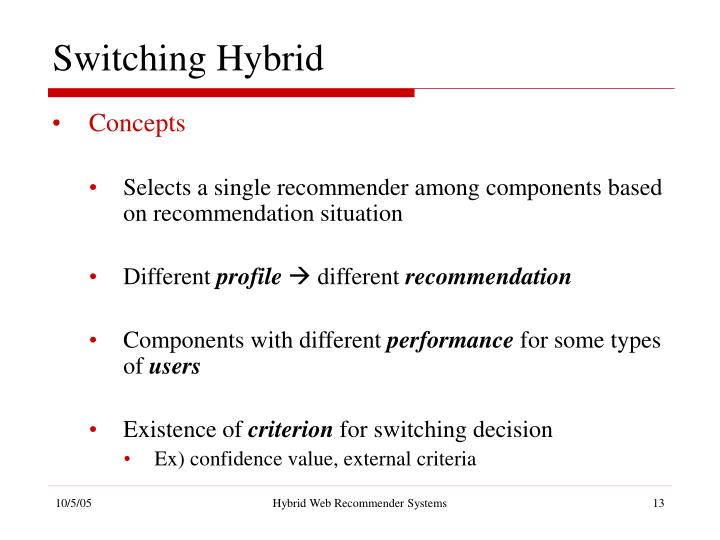 Switching Hybrid