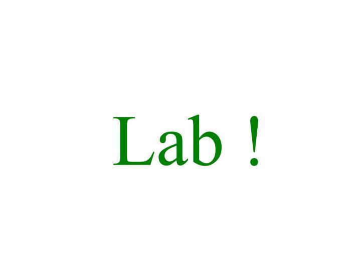 Lab !