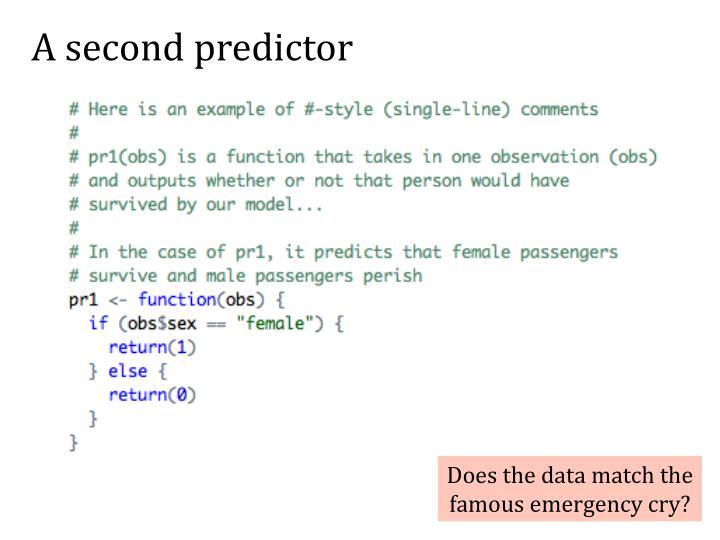 A second predictor