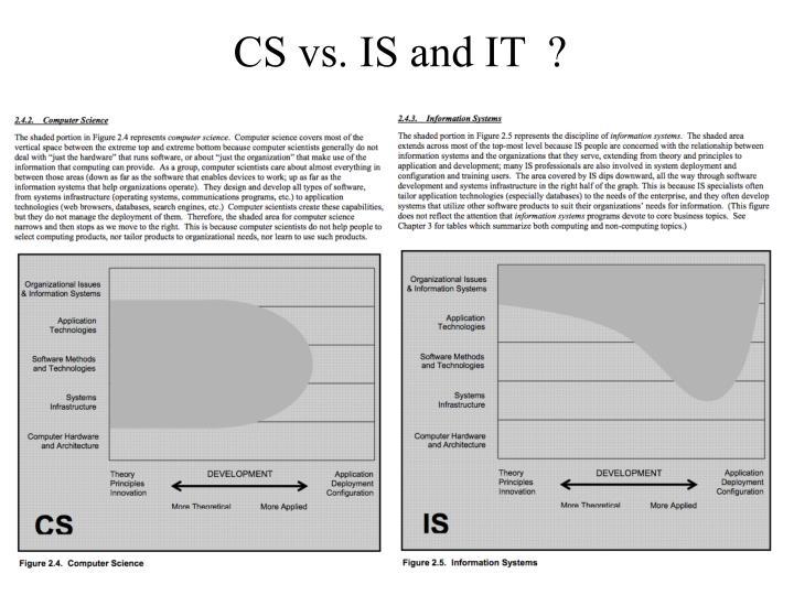 CS vs. IS and IT  ?