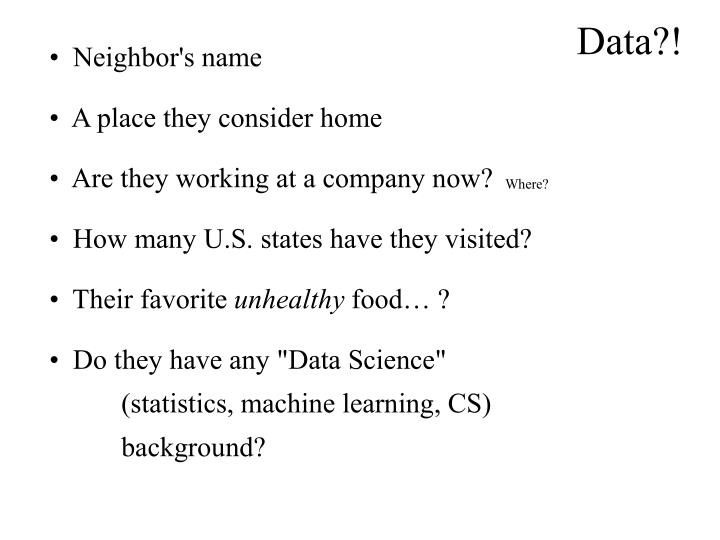 Data?!