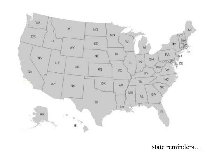 state reminders…