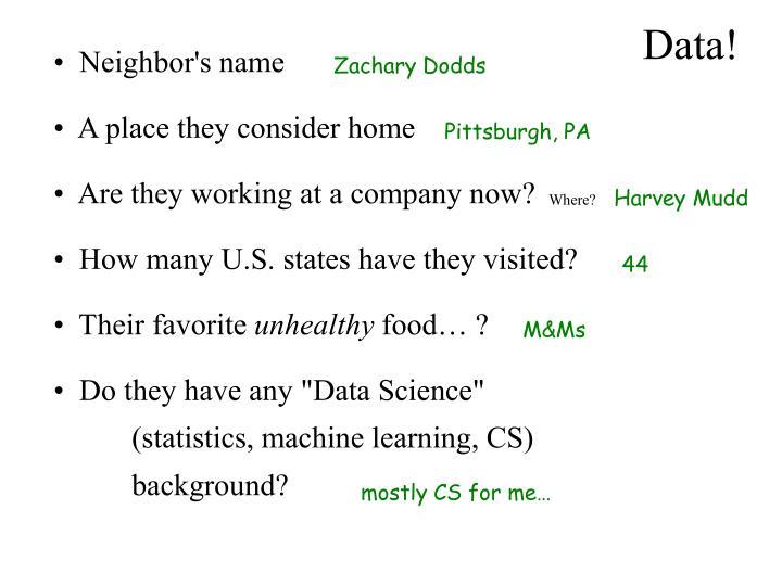 Data!