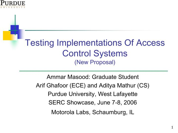Testing Implementations Of Access Control Systems
