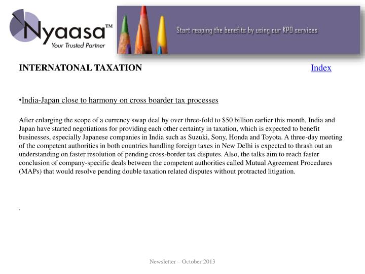 INTERNATONAL TAXATION