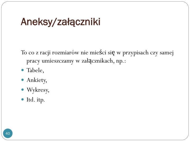 Aneksy/załączniki
