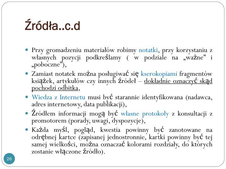 Źródła..c.d