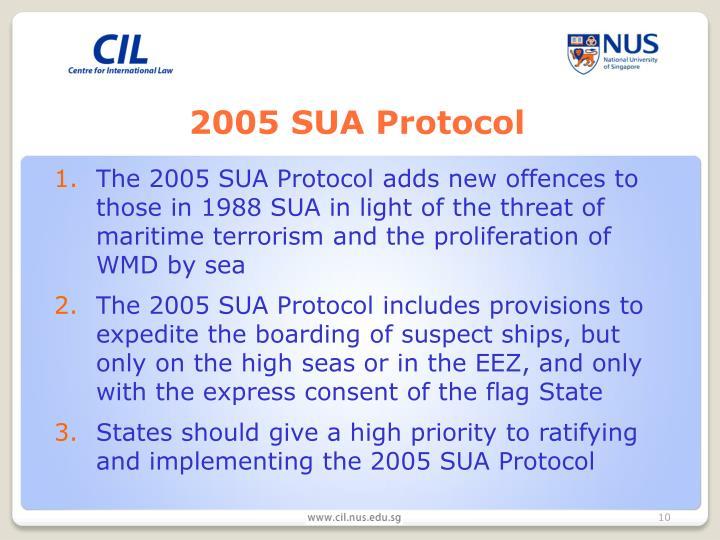 2005 SUA Protocol
