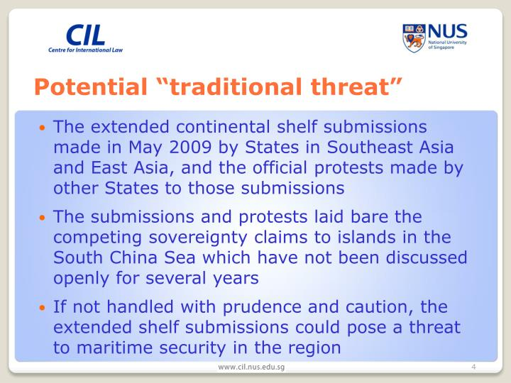 "Potential ""traditional threat"""