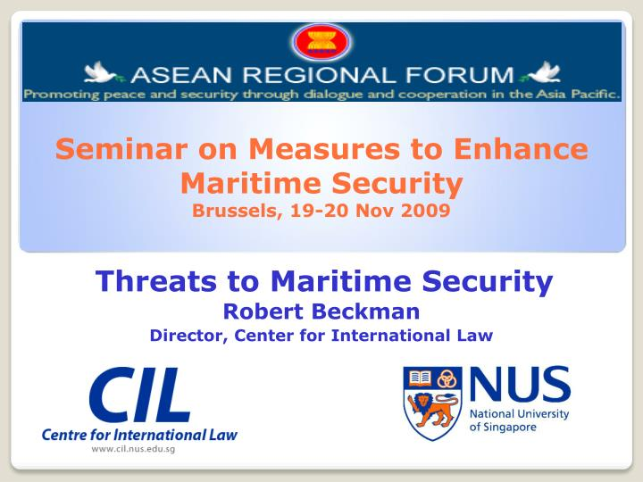 Seminar on Measures to Enhance Maritime Security