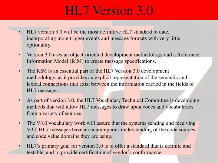 HL7 Version 3.0