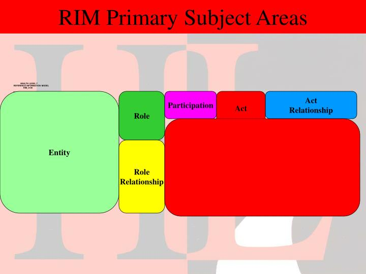 RIM Primary Subject Areas
