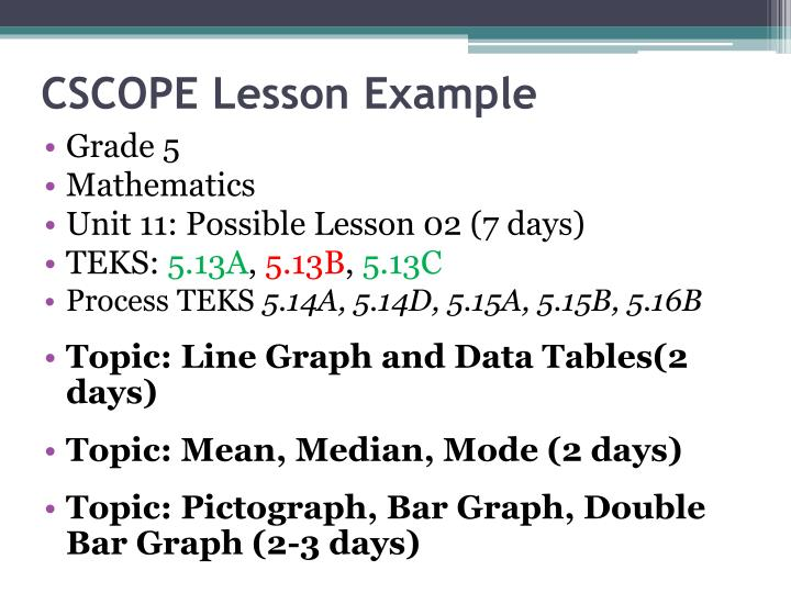 CSCOPE Lesson Example