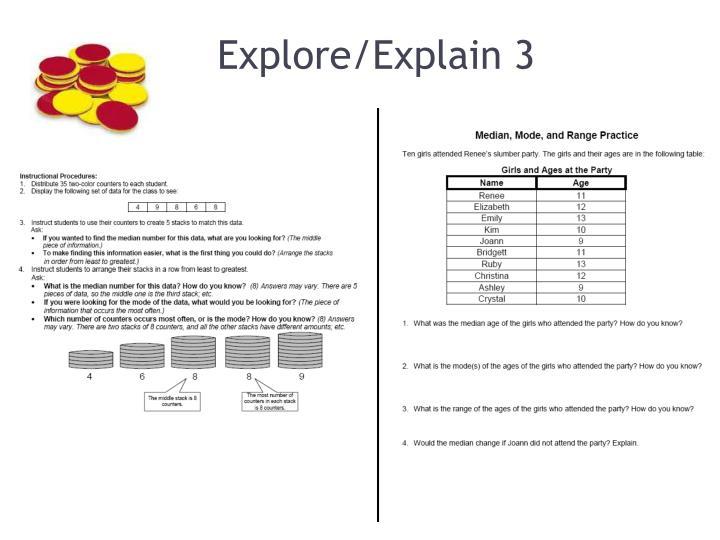 Explore/Explain 3
