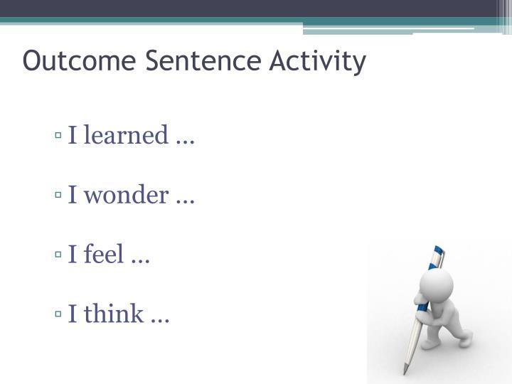 Outcome Sentence Activity