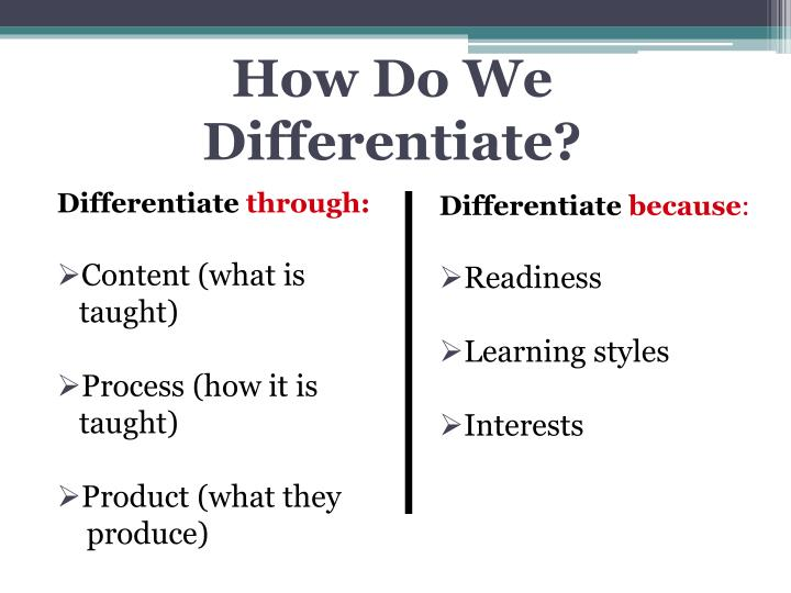 How Do We Differentiate?
