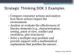 strategic thinking dok 3 examples