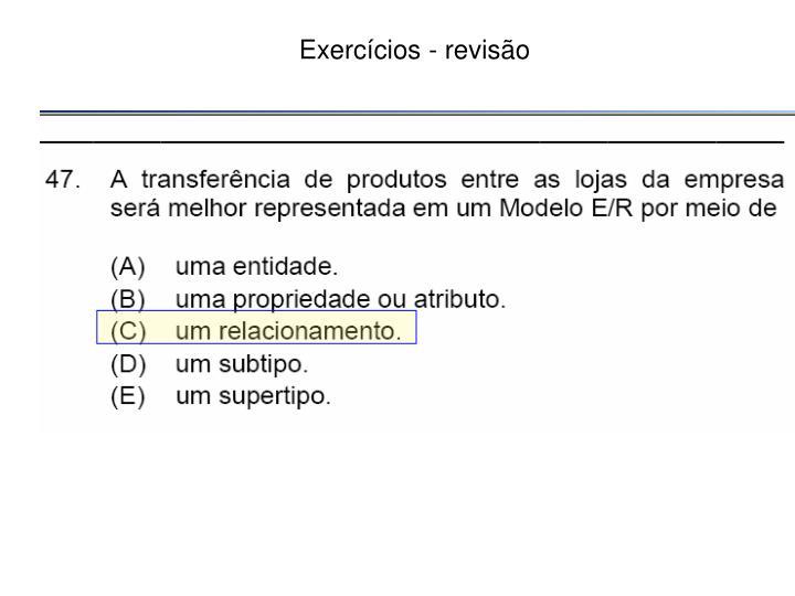 Exercícios - revisão