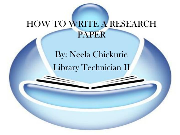 ways to write a research paper