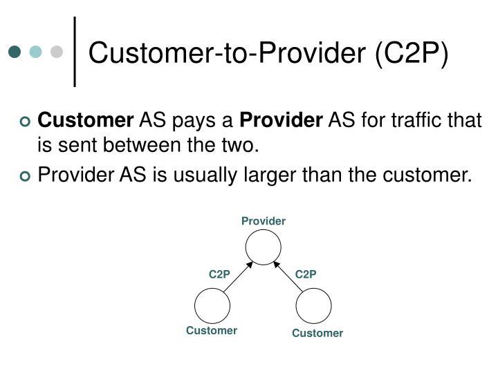 Customer-to-Provider (C2P)
