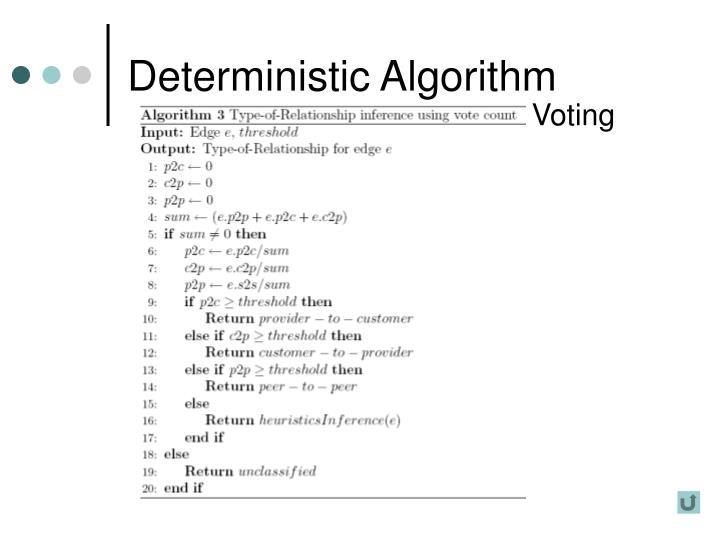 Deterministic Algorithm