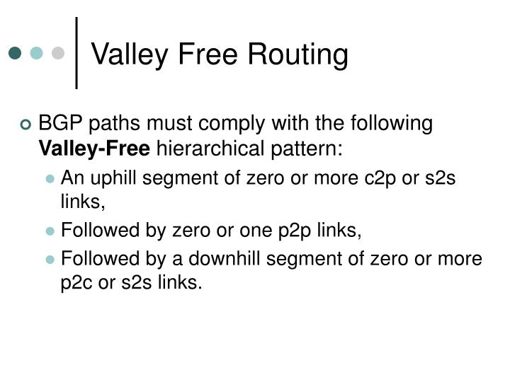 Valley Free Routing