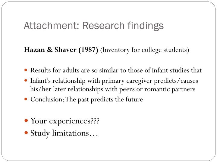 Attachment: Research findings
