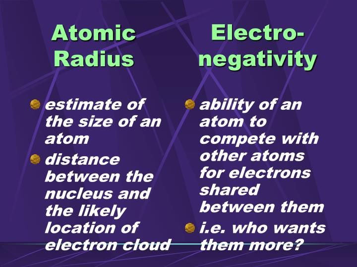 estimate of the size of an atom