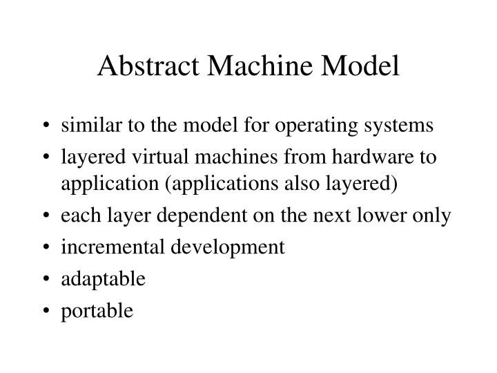 Abstract Machine Model