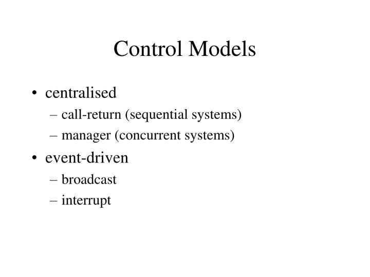 Control Models