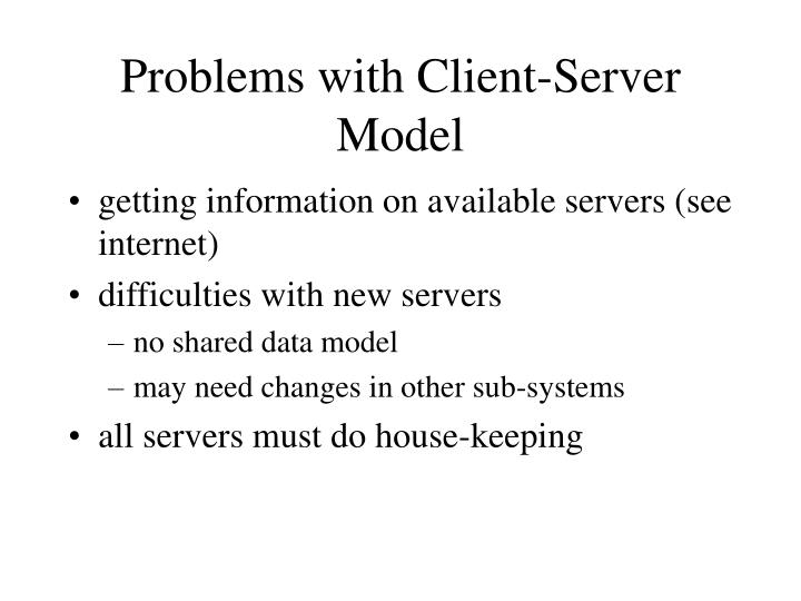 Problems with Client-Server Model