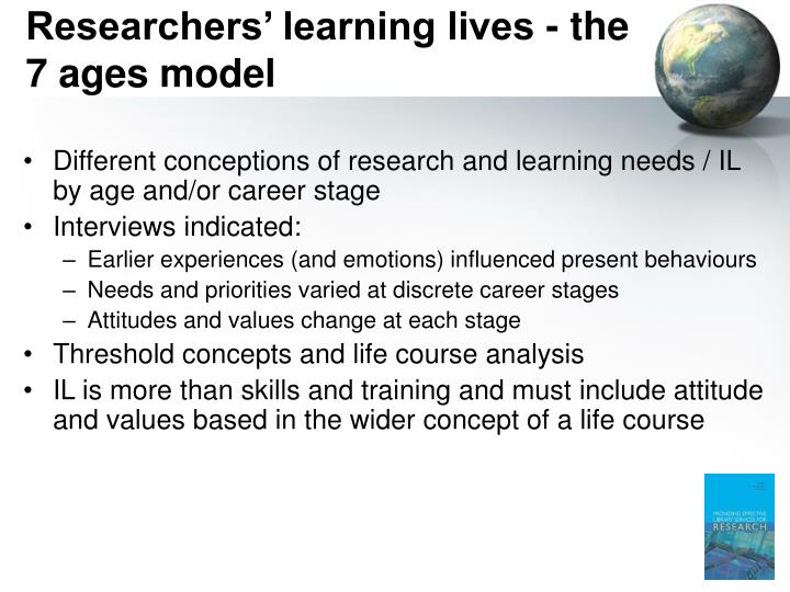 Researchers' learning lives - the 7 ages model