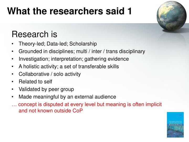 What the researchers said 1