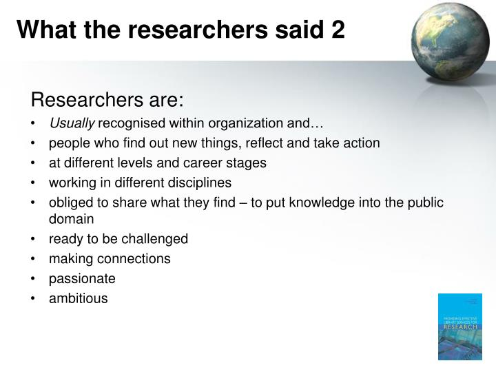 What the researchers said 2