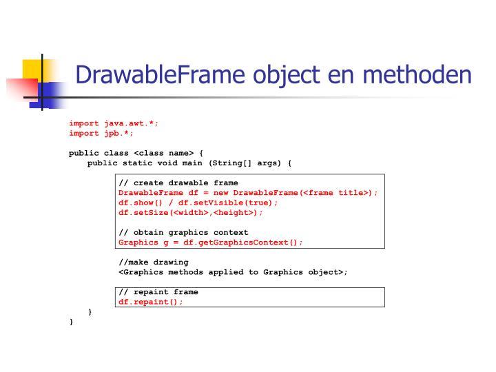 DrawableFrame object en methoden