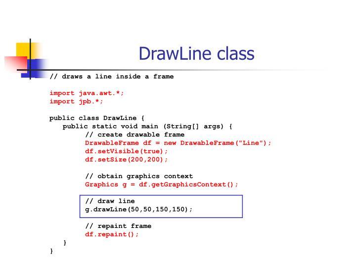 DrawLine class