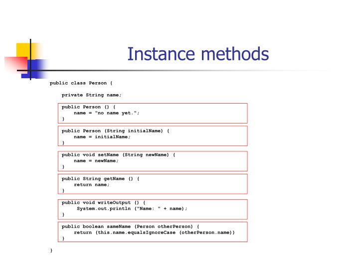 Instance methods