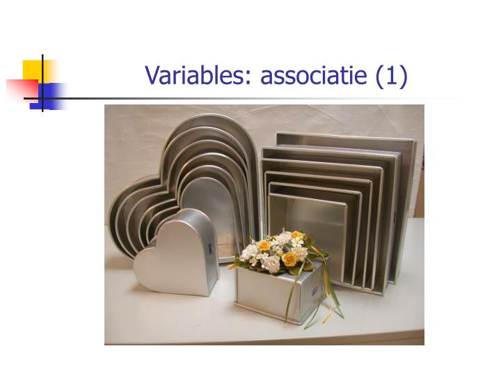 Variables: associatie (1)
