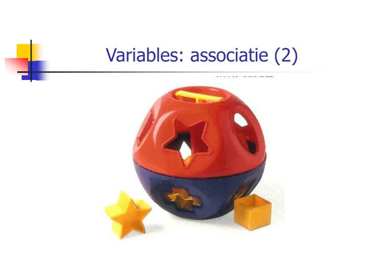Variables: associatie (2)
