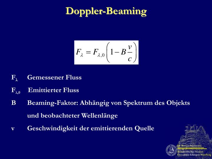 Doppler-Beaming