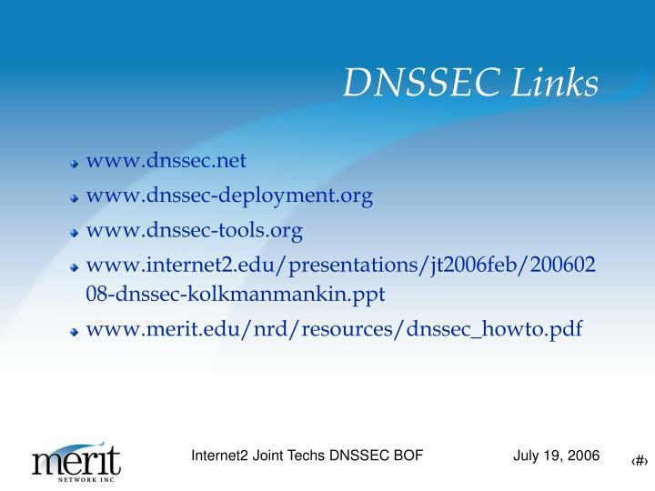 DNSSEC Links
