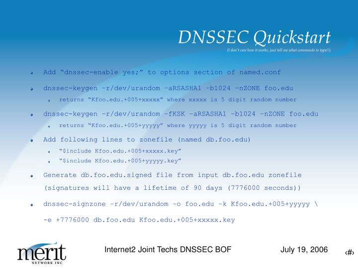 DNSSEC Quickstart