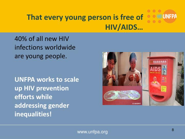 That every young person is free of HIV/AIDS…