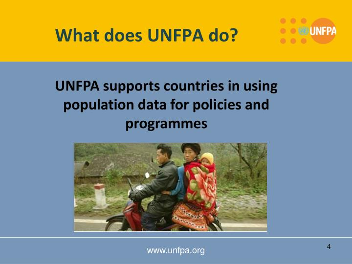 What does UNFPA do?