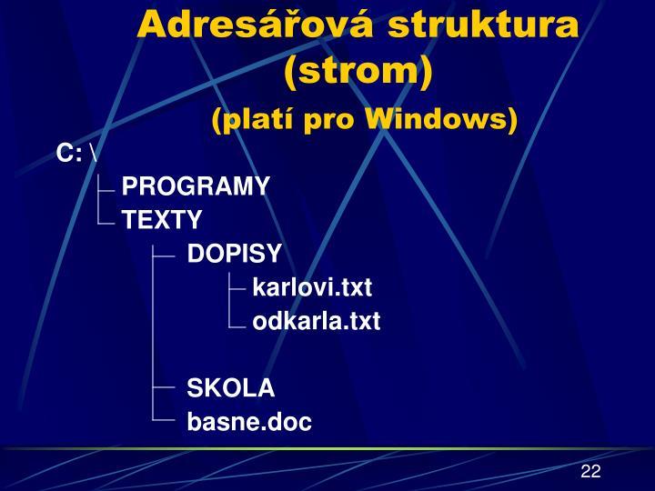 Adresářová struktura (strom)