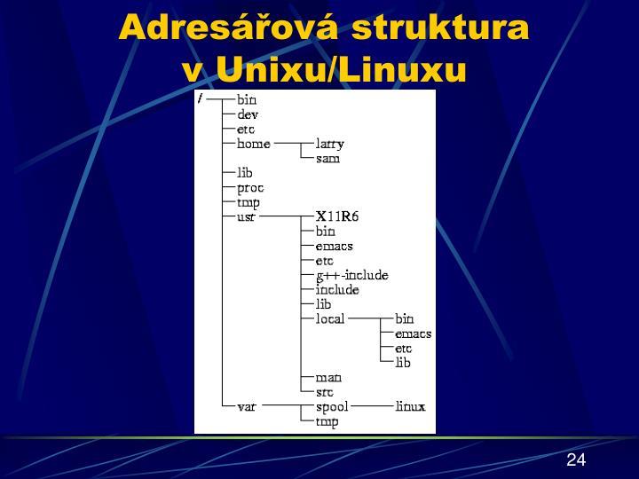 Adresářová struktura vUnixu/Linuxu