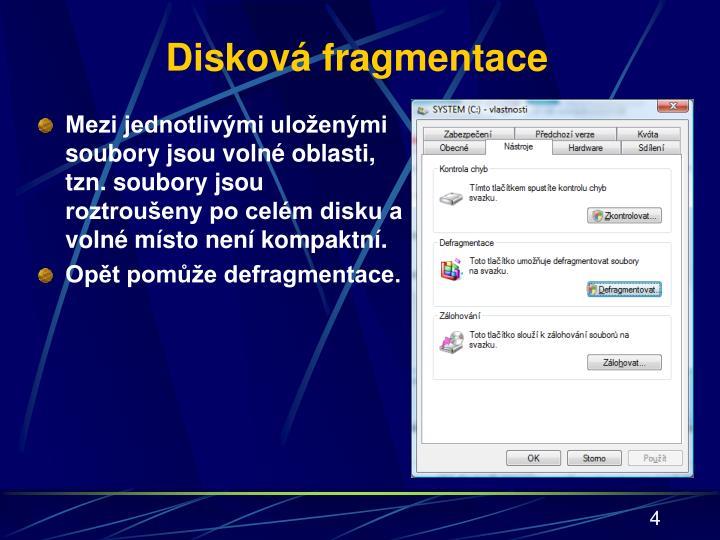 Disková fragmentace