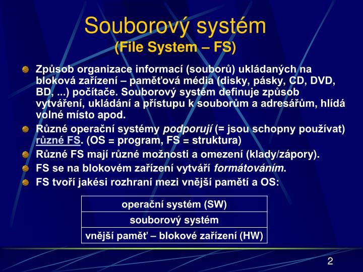 Souborový systém